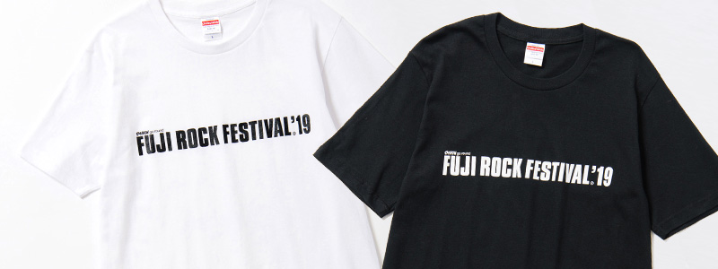 b1dc1d3ab68 The beloved Fuji Rock Festival official logo tee is back! The back of the  shirt features lettering in the same color which says